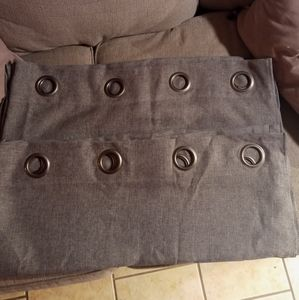 1 pair 2 Panels Grey Curtains 108 x 94 Like New